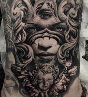 фото тату в стиле чикано от 08.04.2018 №002 — Chicano style tattoo — tattoo-photo.ru