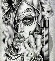 фото тату в стиле чикано от 08.04.2018 №006 — Chicano style tattoo — tattoo-photo.ru