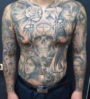 фото тату в стиле чикано от 08.04.2018 №007 — Chicano style tattoo — tattoo-photo.ru