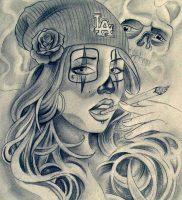 фото тату в стиле чикано от 08.04.2018 №008 — Chicano style tattoo — tattoo-photo.ru