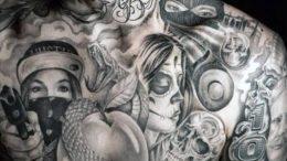 фото тату в стиле чикано от 08.04.2018 №070 - Chicano style tattoo - tattoo-photo.ru