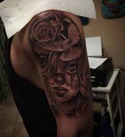 фото тату в стиле чикано от 08.04.2018 №114 — Chicano style tattoo — tattoo-photo.ru