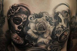 фото тату в стиле чикано от 08.04.2018 №115 - Chicano style tattoo - tattoo-photo.ru