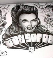 фото тату в стиле чикано от 08.04.2018 №116 — Chicano style tattoo — tattoo-photo.ru