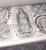 фото тату в стиле чикано от 08.04.2018 №117 — Chicano style tattoo — tattoo-photo.ru