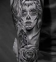 фото тату в стиле чикано от 08.04.2018 №121 — Chicano style tattoo — tattoo-photo.ru
