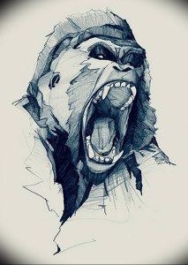 фото тату горилла от 27.03.2018 №006 - gorilla tattoo - tattoo-photo.ru