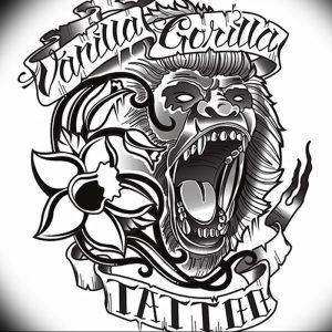 фото тату горилла от 27.03.2018 №034 - gorilla tattoo - tattoo-photo.ru