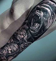 фото тату горилла от 27.03.2018 №114 — gorilla tattoo — tattoo-photo.ru