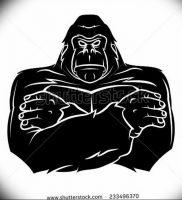 фото тату горилла от 27.03.2018 №120 — gorilla tattoo — tattoo-photo.ru