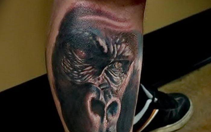 фото тату горилла от 27.03.2018 №122 - gorilla tattoo - tattoo-photo.ru