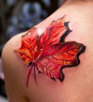 фото тату кленовый лист от 14.04.2018 №083 — maple leaf tattoo — tattoo-photo.ru