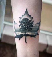 фото тату кленовый лист от 14.04.2018 №086 — maple leaf tattoo — tattoo-photo.ru