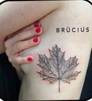 фото тату кленовый лист от 14.04.2018 №089 — maple leaf tattoo — tattoo-photo.ru