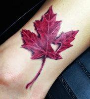 фото тату кленовый лист от 14.04.2018 №091 — maple leaf tattoo — tattoo-photo.ru