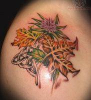 фото тату кленовый лист от 14.04.2018 №094 — maple leaf tattoo — tattoo-photo.ru