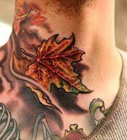 фото тату кленовый лист от 14.04.2018 №098 — maple leaf tattoo — tattoo-photo.ru