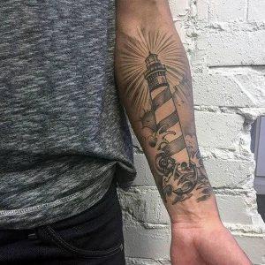 фото тату маяк от 16.04.2018 №012 - tattoo beacon - tattoo-photo.ru