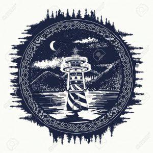 фото тату маяк от 16.04.2018 №018 - tattoo beacon - tattoo-photo.ru