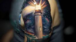 фото тату маяк от 16.04.2018 №044 - tattoo beacon - tattoo-photo.ru