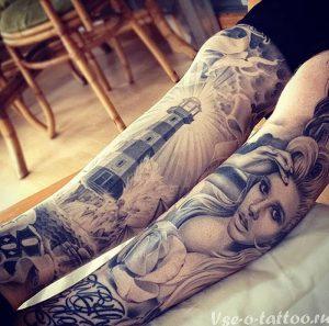 фото тату маяк от 16.04.2018 №070 - tattoo beacon - tattoo-photo.ru