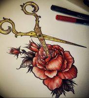 фото тату ножницы от 27.03.2018 №079 — tattoo scissors — tattoo-photo.ru