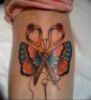 фото тату ножницы от 27.03.2018 №083 — tattoo scissors — tattoo-photo.ru