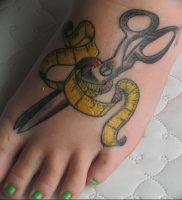 фото тату ножницы от 27.03.2018 №087 — tattoo scissors — tattoo-photo.ru