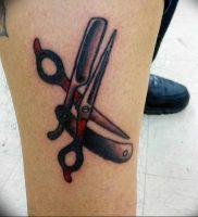 фото тату ножницы от 27.03.2018 №093 — tattoo scissors — tattoo-photo.ru