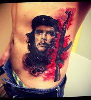 фото тату Че Гевара от 27.04.2018 №008 — tattoo Che Guevara — tattoo-photo.ru
