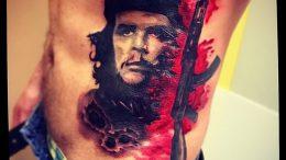 фото тату Че Гевара от 27.04.2018 №008 - tattoo Che Guevara - tattoo-photo.ru
