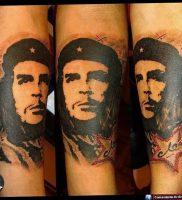 фото тату Че Гевара от 27.04.2018 №014 — tattoo Che Guevara — tattoo-photo.ru