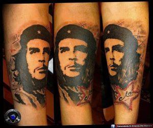 фото тату Че Гевара от 27.04.2018 №014 - tattoo Che Guevara - tattoo-photo.ru