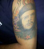 фото тату Че Гевара от 27.04.2018 №015 — tattoo Che Guevara — tattoo-photo.ru