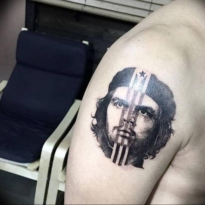 фото тату Че Гевара от 27.04.2018 №068 - tattoo Che Guevara - tattoo-photo.ru