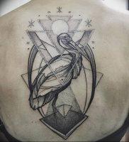 фото тату аист от 18.04.2018 №007 — tattoo stork — tatufoto.com