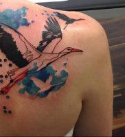 фото тату аист от 18.04.2018 №009 — tattoo stork — tatufoto.com