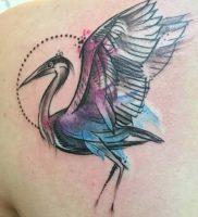 фото тату аист от 18.04.2018 №013 — tattoo stork — tatufoto.com