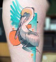 фото тату аист от 18.04.2018 №014 — tattoo stork — tatufoto.com