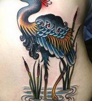фото тату аист от 18.04.2018 №111 — tattoo stork — tatufoto.com