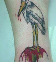 фото тату аист от 18.04.2018 №113 — tattoo stork — tatufoto.com