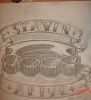фото тату кастет от 11.04.2018 №003 — tattoo brass knuckles — tattoo-photo.ru