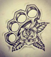 фото тату кастет от 11.04.2018 №008 — tattoo brass knuckles — tattoo-photo.ru