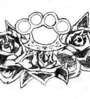 фото тату кастет от 11.04.2018 №009 — tattoo brass knuckles — tattoo-photo.ru
