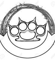 фото тату кастет от 11.04.2018 №014 — tattoo brass knuckles — tattoo-photo.ru 2342342