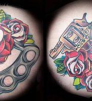 фото тату кастет от 11.04.2018 №017 — tattoo brass knuckles — tattoo-photo.ru