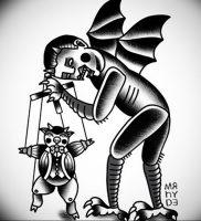 фото тату марионетка с нитками от 26.04.2018 №005 — tattoo puppet with — tattoo-photo.ru