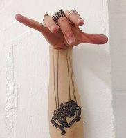 фото тату марионетка с нитками от 26.04.2018 №006 — tattoo puppet with — tattoo-photo.ru