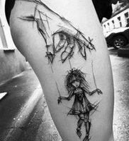 фото тату марионетка с нитками от 26.04.2018 №009 — tattoo puppet with — tattoo-photo.ru