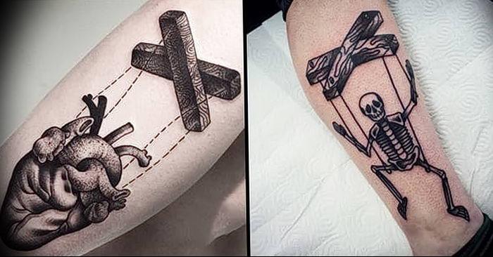 фото тату марионетка с нитками от 26.04.2018 №010 - tattoo puppet with - tattoo-photo.ru